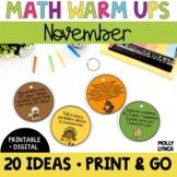 Math in a Minute {November}