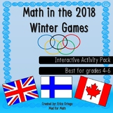 Math in the 2018 Winter Olympics Interactive Activity Pack Grades 4-6