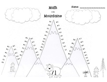Math in the Mountains Division Basic Fact Practice Set