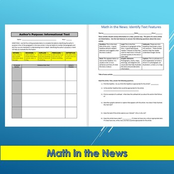 Math in the News: 10 Reasons Why Math is Important in Life--Sub Plans