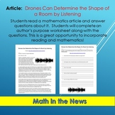 Math in the News: Drones Can Determine the Shape of a Room by Listening