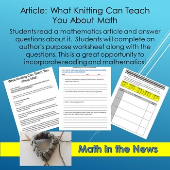Math in the News: What Knitting Can Teach You About Math