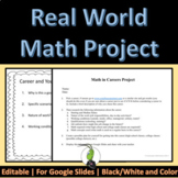 Math in the Real World Career Project Google Distance Learning