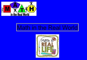 Math in the Real World Notebook