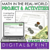 Real Life Math Project Investigating Budgets