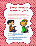 Math interactive notebook unit 1 pages