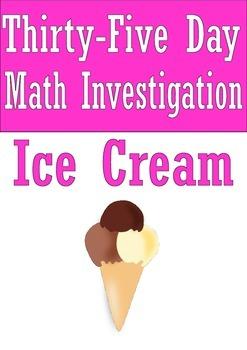 Math investigation: Ice Cream 5th 6th 7th 8th grades