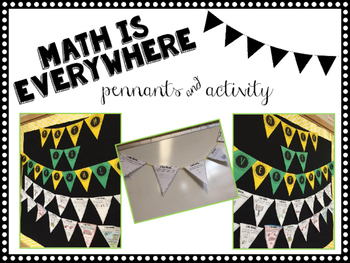 Math is Everywhere! Pennant banner and activity!