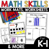 Math Skills Work Mats and Activities Bundle