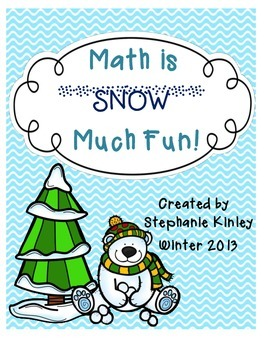 Math is SNOW Much Fun - 22 Print and Go Math Pages