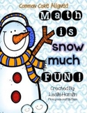 Math is SNOW much FUN!!  First Grade Math Centers