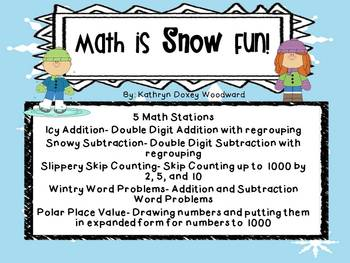 Math is Snow Fun! 5 Winter Theme Common Core Math Centers