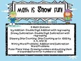 Math is Snow Fun! 5 Winter Theme Common Core Math Centers