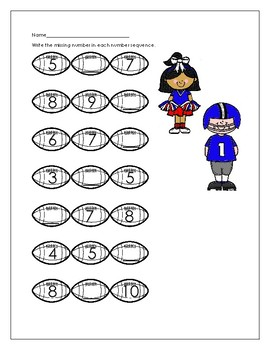Math is Super: Football themed math activities