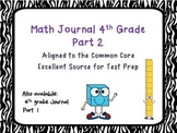 Math Journal 4th grade CCSS extended responses Part II