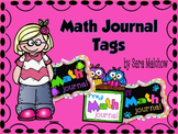 Math journal labels - owl monster dog theme
