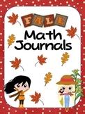 Math journals for Fall Season