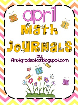 Math journals for the month of April