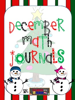 Math journals for the month of December