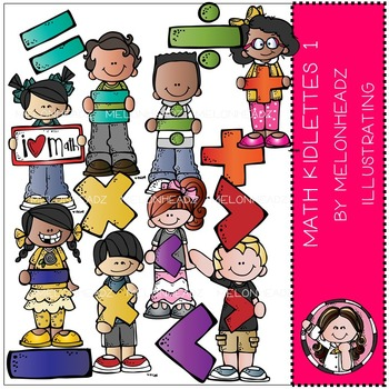 Math kidlettes 1 clip art - COMBO PACK- by Melonheadz