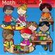 Math kids clip art set 2-Color and B&W.