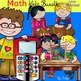 Math kids clip art set -Color and B&W.