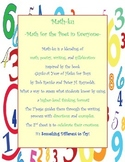 Math-ku- Math for the Poet in Everyone