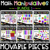 Math manipulative ❤️Digital Movable Clip Art❤️ BUNDLE 1