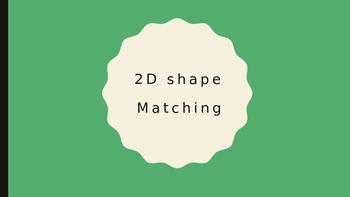 Math matching worksheet - 2D shapes