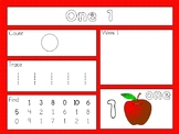 Math mats Count Trace Write Find Apple Theme