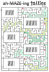 Math mazes to practice counting tally marks - numbers 1 to 50