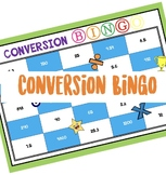 Math measurement conversion game: Conversion Bingo