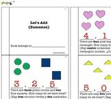 Math mini book: Adding basic operation up to five