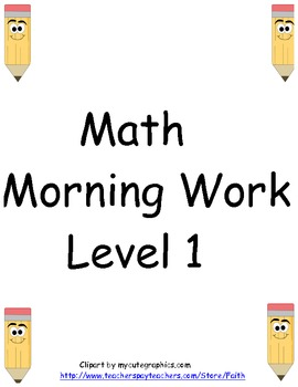 Math morning work: level one