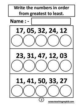FIRST GRADE Maths - multiple worksheets pack