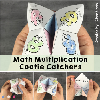 Math multiplication cootie catchers: tables from 1 to 12