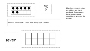 Math notebook numbers 6-10