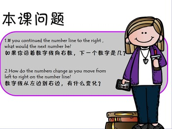 3rd Math number line 数字线的学习(简体)