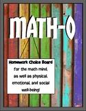 Math-o Homework Choice Board