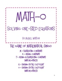 Math-o: Solving One-Step Equations