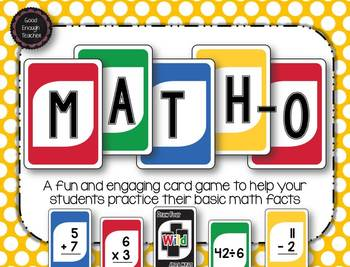 Math-o - addition, subtraction, multiplication, division card game