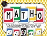 Math-o - addition, subtraction, multiplication, division c