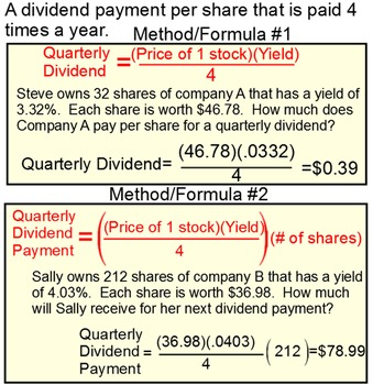 Math of Finance, Stocks and Yield - Student Reference + 7 Assignments for PDF