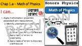 Math of Physics in Measurement:  Types of Errors and Uncertainty