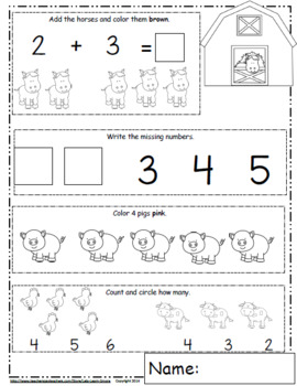 Math of the Month, Math Worksheets, Daily Math Freebie, Back to School Ideas