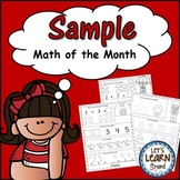 Math of the Month, Math Worksheets, Daily Math Freebie, Ba