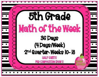 5th Grade Math of the Week 2nd Quarter