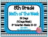 5th Grade Math of the Week 3rd Quarter