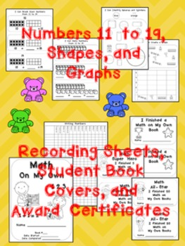 Math on My Own ~250 Differentiated Practice Pages for Kindergarten ~Print and Go