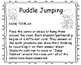 """Math on the Move_ Editable Version for April called """"Puddle Jumping"""""""